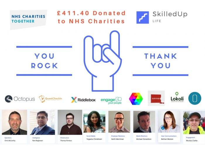 SkilledUp Life Donation of £411.40 to NHS Charities